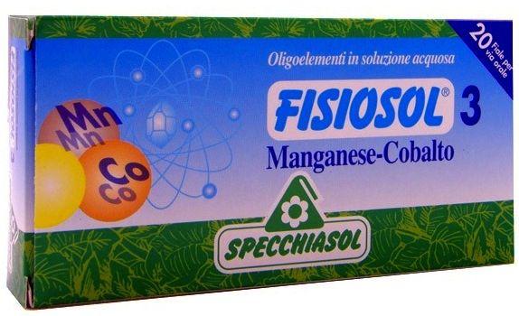 Specchiasol Fisiosol 3 Mn-Co 20 ampollas