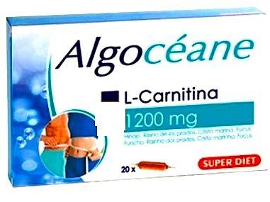 Super Diet Algoceane Carnitina 20 ampollas