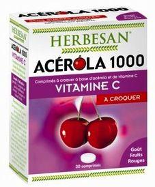 Super Diet Herbesan Acerola 1000 Efervescente 30 comprimidos