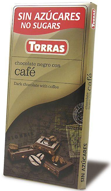 Torras Chocolate Negro Con Café Sin Azúcar 75g