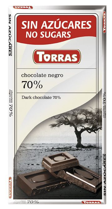 Torras Chocolate Negro Sin Azúcar 75g