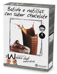 Vendrell 2 Weeks Diet Batido o Natillas de Chocolate 4 sobres