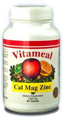 Vitameal Calcio, Magnesio y Zinc 90 cápsulas