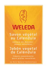 Weleda jabon vegetal de Calendula pastilla de 100g